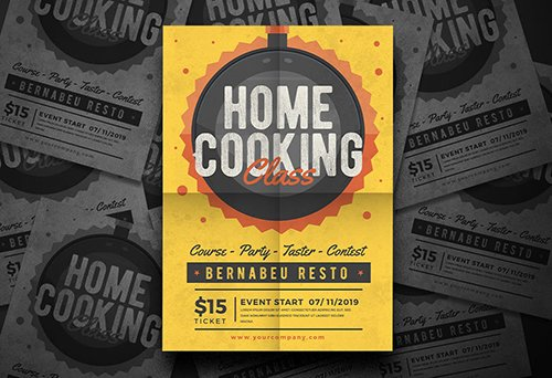Home Cooking Flyer PSD