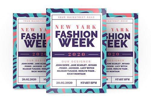 Fashion Week Flyer PSD