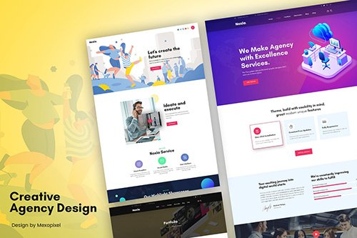 Creative Portfolio Agency, Services Template