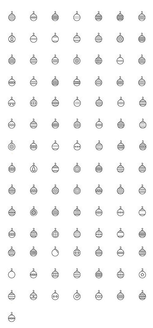 Baubles Icon Pack (Lineal)