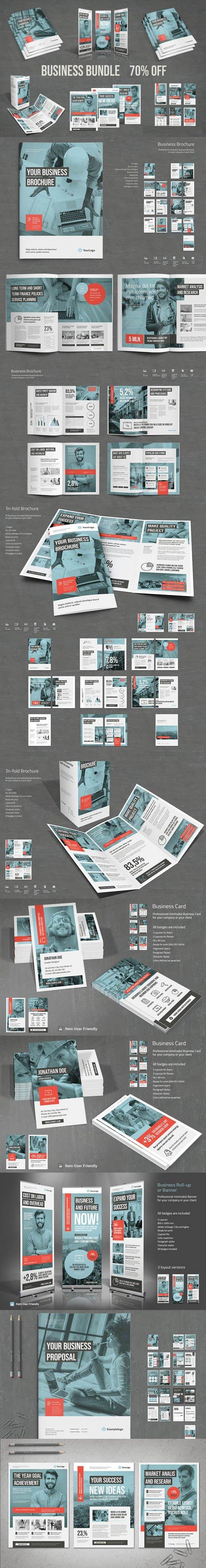 CreativeMarket - Business Bundle Vol.2 - Indesign INDD Templates