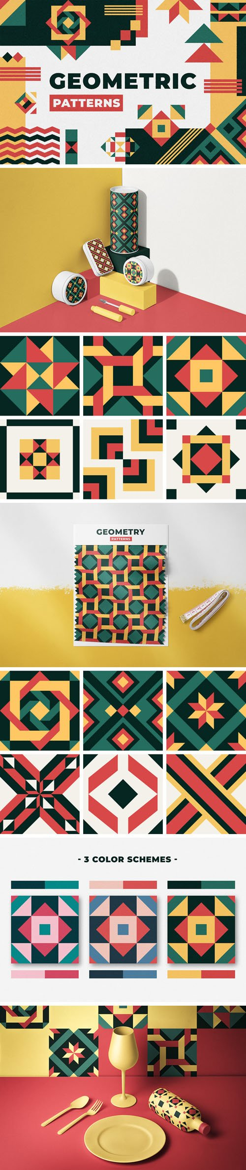 36 Geometric Patterns in Vector
