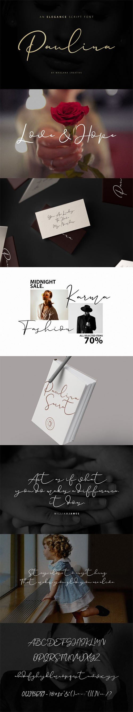 Paulina - An Elegance Script Font