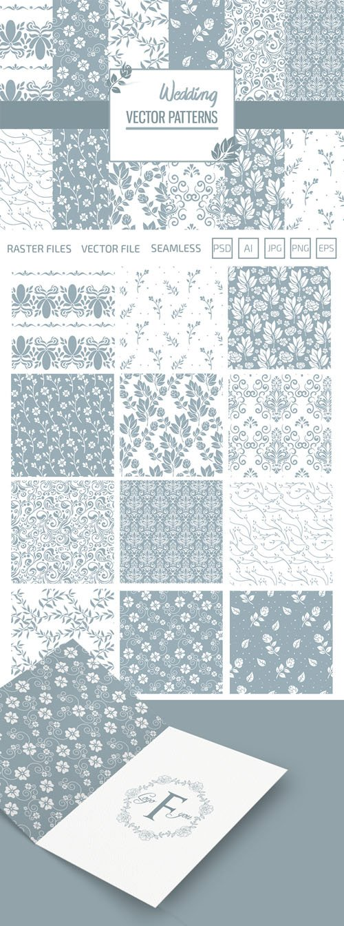 12 Wedding Vector Patterns