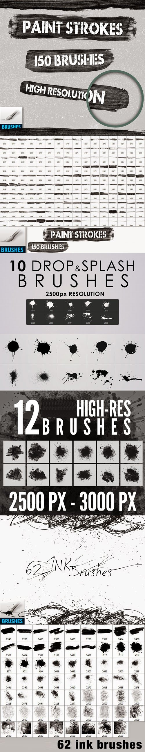 234 High-Res Photoshop Brushes Collection