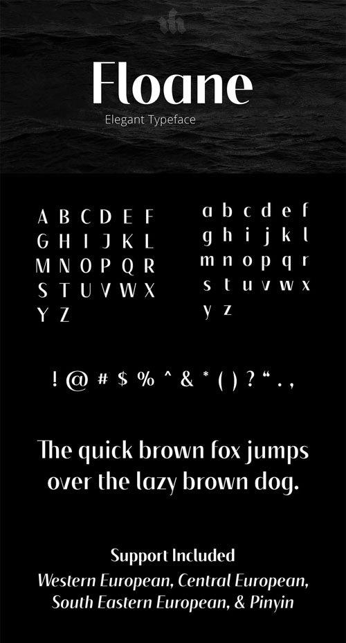 Floane Elegant Typeface (4-Weights)