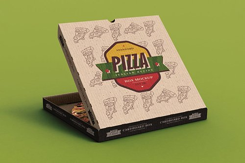 Pizza Box Mock-Up Template 2