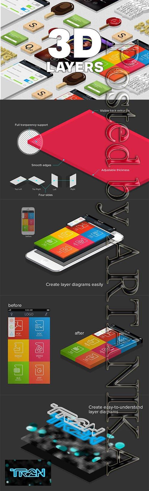 3D Isometric Layers