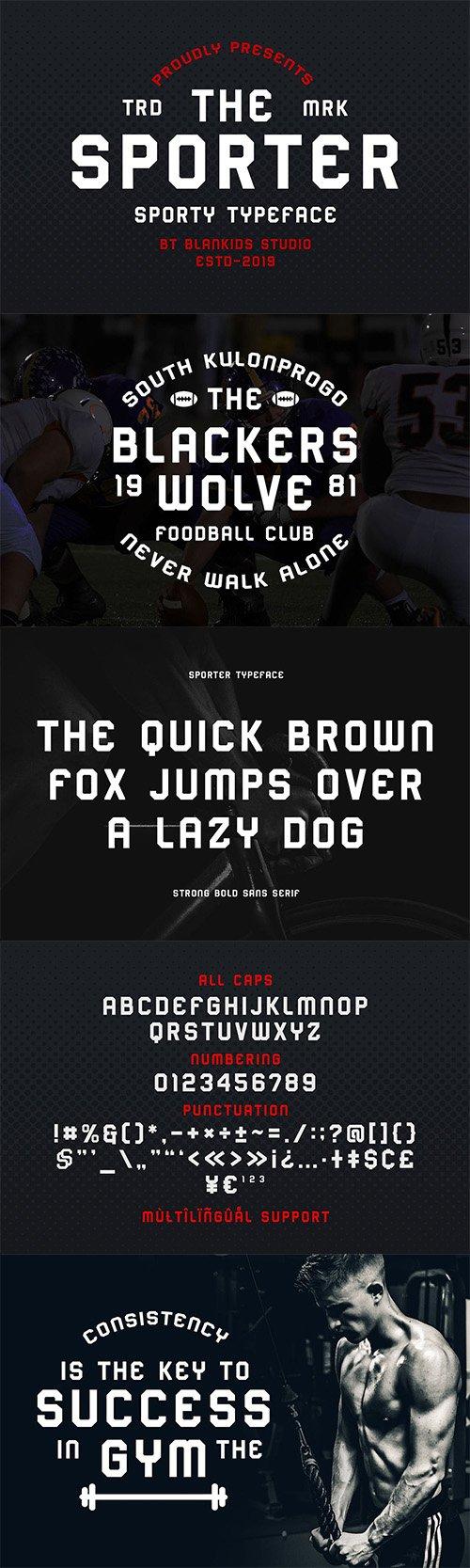 Sporter - Sporty Display Typeface
