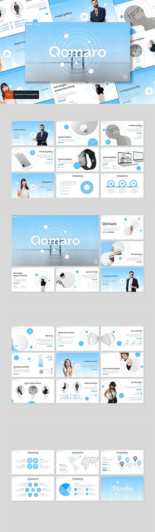 Qomaro - Powerpoint, Keynote and Google Slides Templates