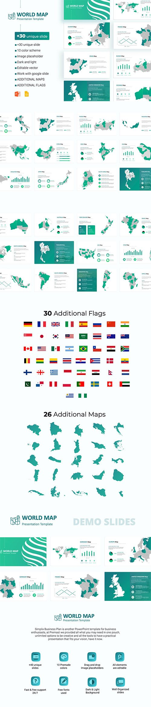 World Maps powerpoint Template