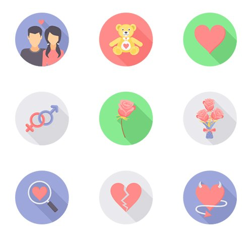 24 Valentine Day Vector Icons