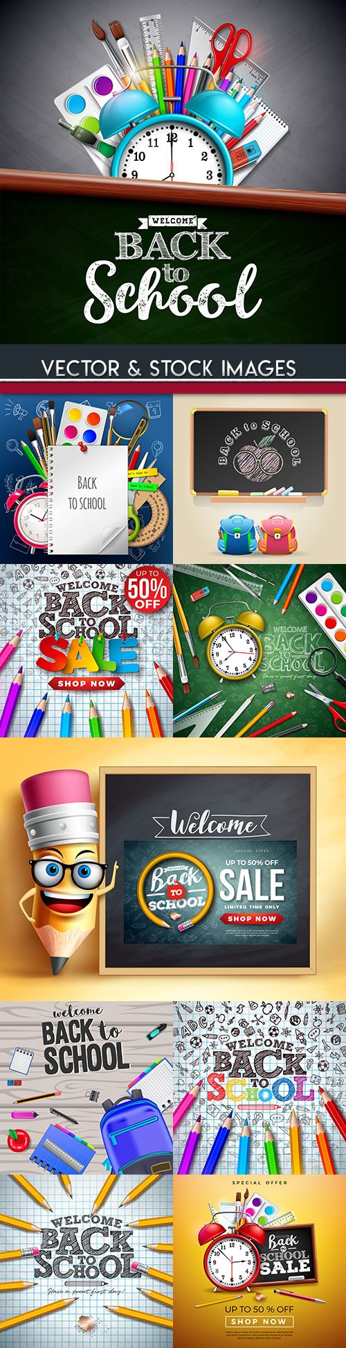 Back to school and accessories collection illustrations 22
