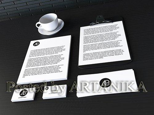 Realistic Stationary Branding & Identity Mockup