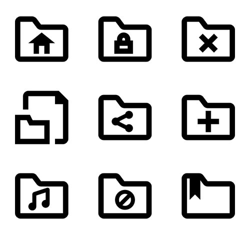 62 Folders Vector Icons (Lineal, Fill)