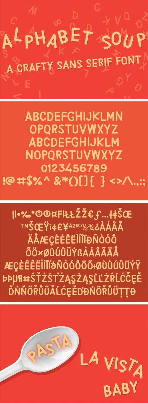PN Alphabet Soup Font