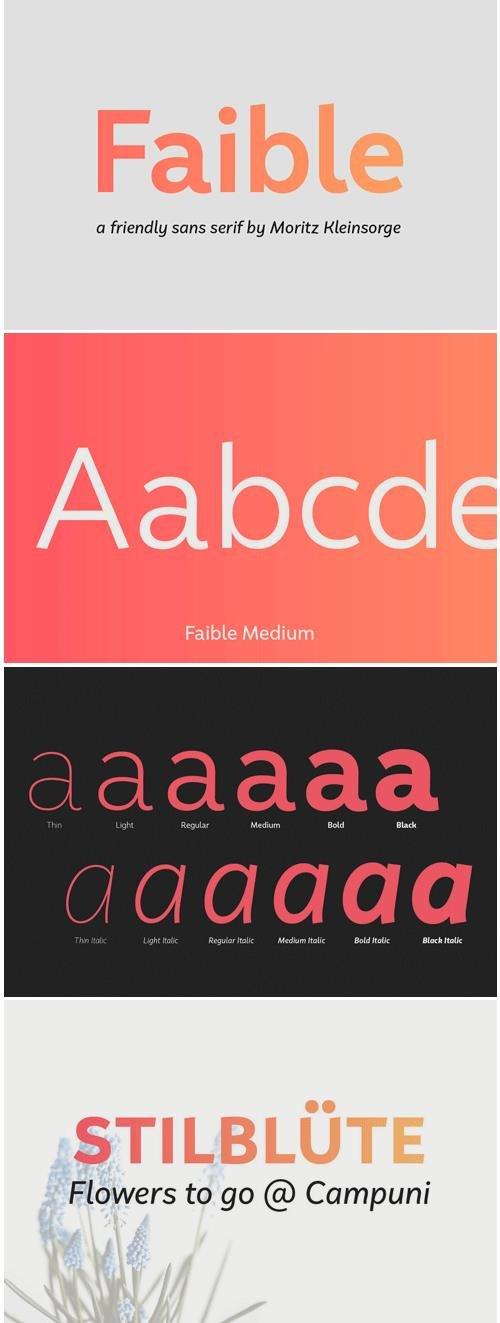 Faible Font Family