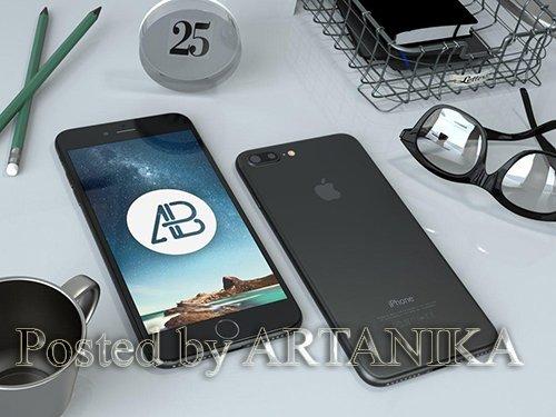 Black iPhone 7 Plus Mockup
