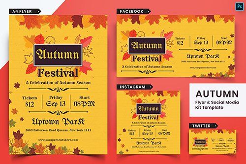 Autumn Festival Flyer & Social Media Pack-08