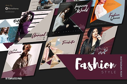 Fashion Style Instagram Post vol. 01