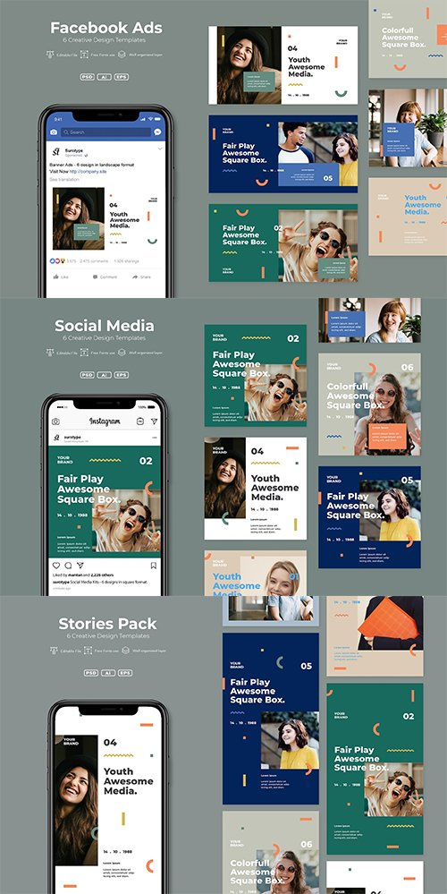 Srtp - Social Media, Stories and Facebook Ads. Pack v7