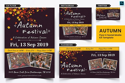 Autumn Festival Flyer & Social Media Pack-11