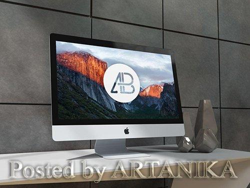 5k iMac Mockup