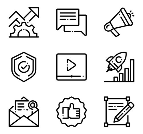 50 Marketing and SEO Vector Icons