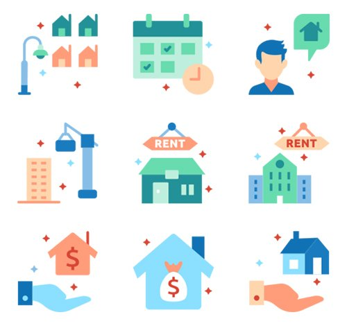 120 Real Estate Vector Icons (Lineal Color, Flat, Outline, Solid)