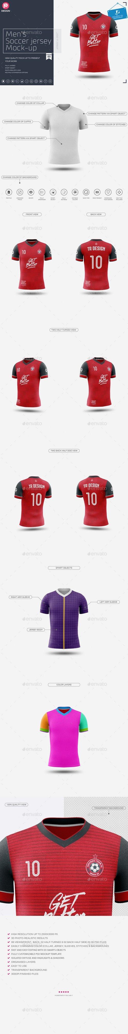 GraphicRiver - Men's Soccer Jersey Mockup V3 24206939