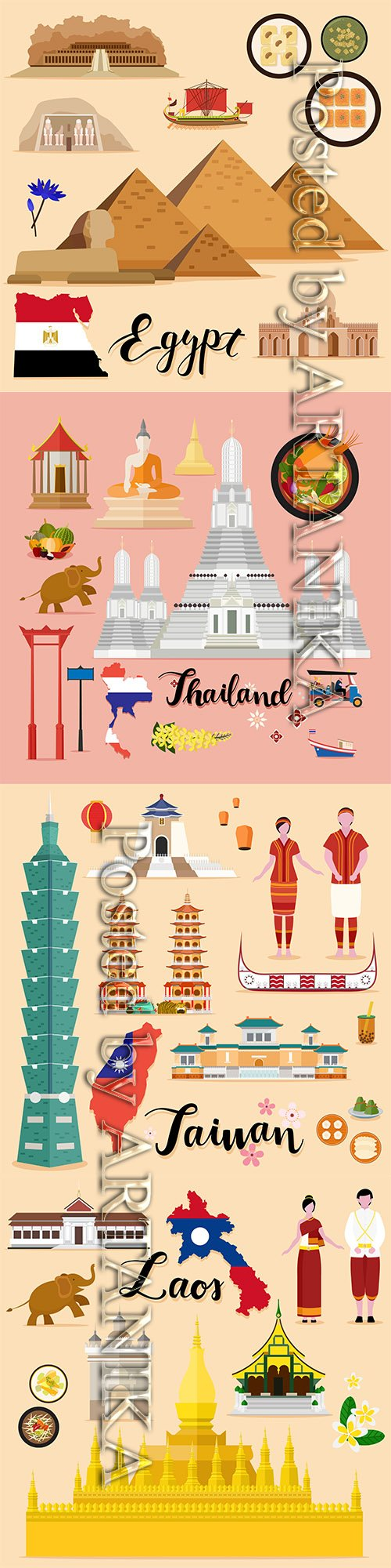 Travel Vector Set Collection Vol.3