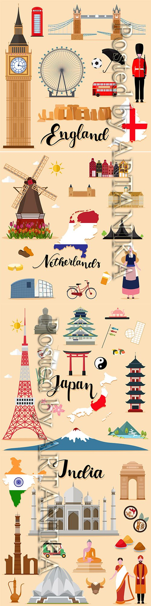 Travel Vector Set Collection Vol.4
