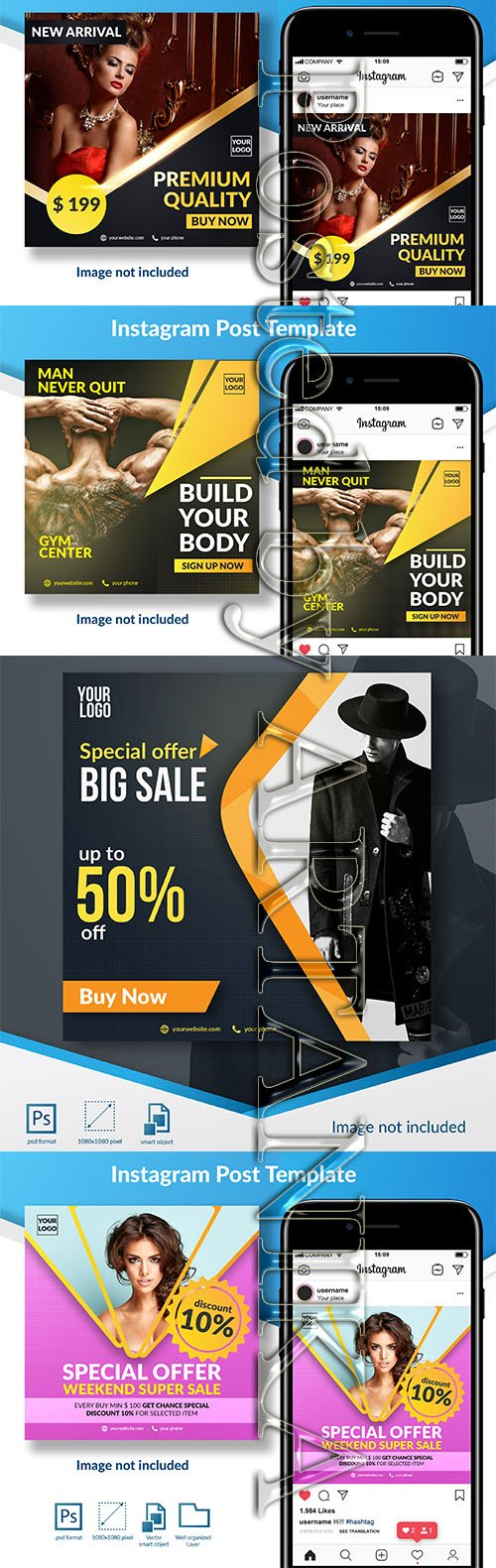 Fashion Sale Social Media Templates