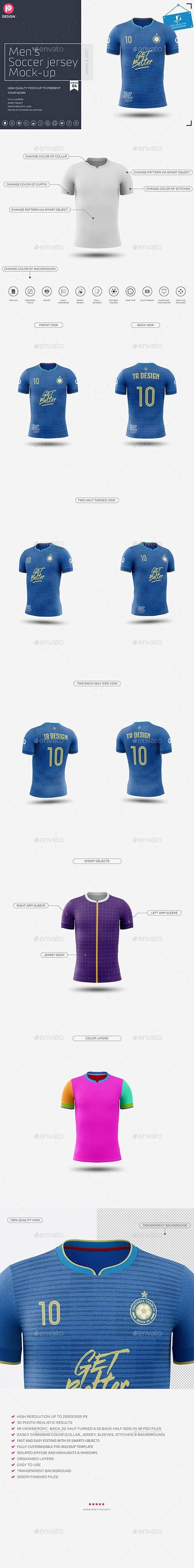 GraphicRiver - Men's Soccer Jersey Mockup V4 24229186