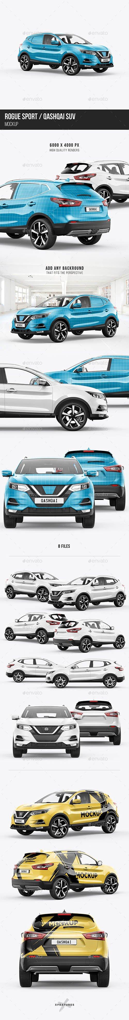 GraphicRiver - Qashqai/Rogue Sport SUV Mockup 24245477