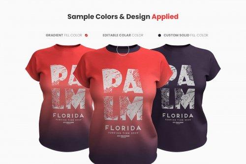 CreativeMarket - Realistic Women T-Shirt Mockup 3991699