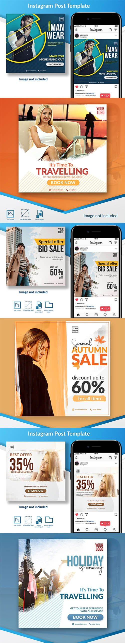 Best Offer Sale Social Media Template Set