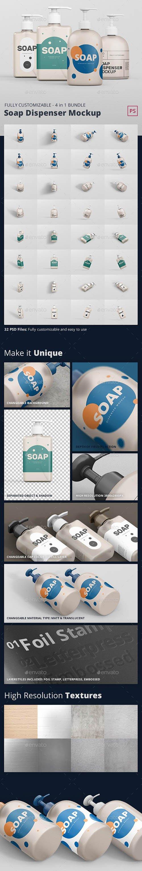 GraphicRiver - Soap Dispenser Mockup Bundle 24244693