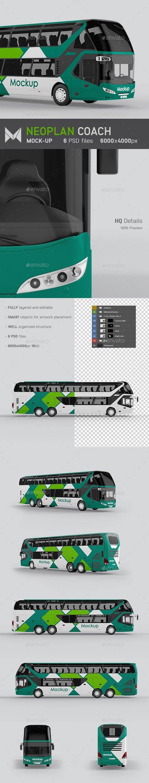 GraphicRiver - Coach Bus Mockup 24257951