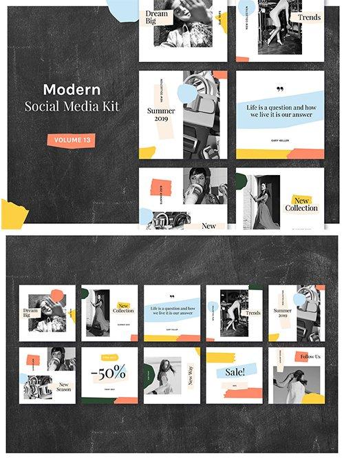 Modern Social Media Kit (Vol. 13)