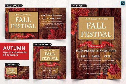 Autumn Festival Flyer & Social Media Pack-06