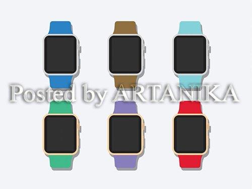 Flat 2D Apple Watch Mockup