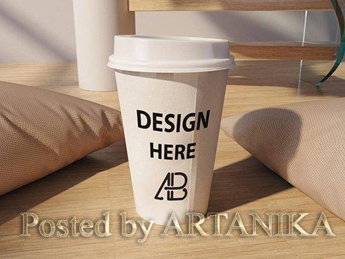Realistic Coffee Cup Mockup