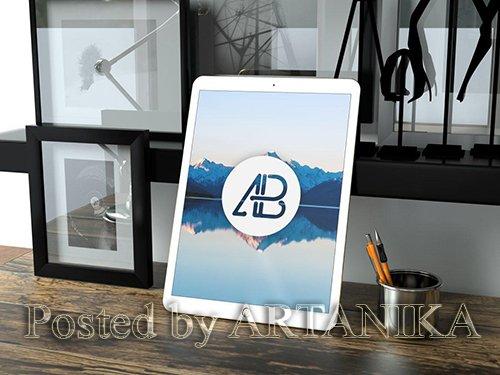 Realistic 12.9 Inch iPad Pro Mockup