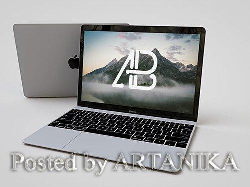 Realistic Apple Macbook Mockup