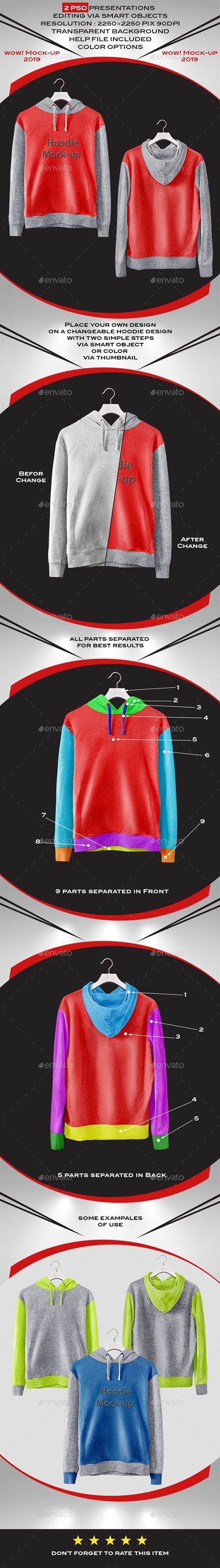 GraphicRiver - Men's Hoodie&Hanger Mock-Up 24259461