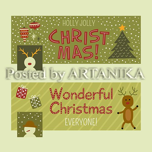 Funny Christmas Facebook Cover Set