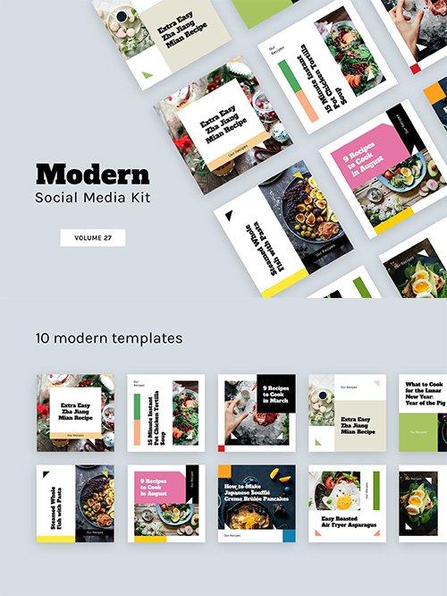 Modern Social Media Kit (Vol. 27)