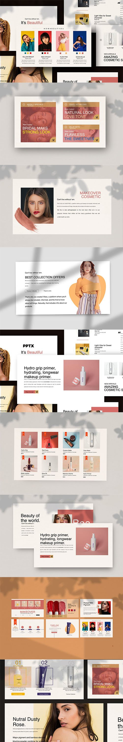 Cosmetics - Powerpoint, Keynote and Google Slides Templates