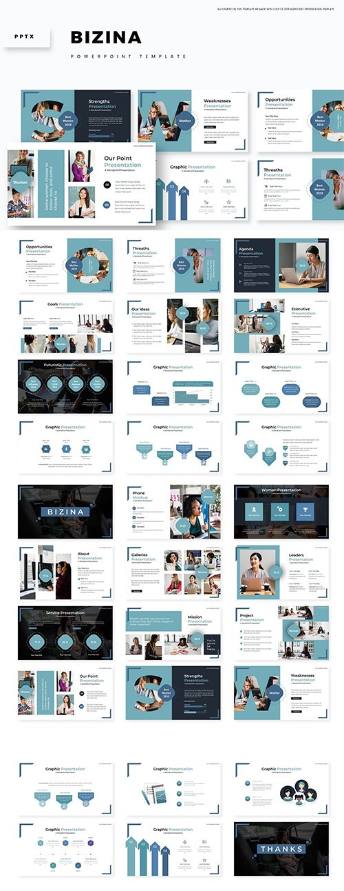 Bizina - Powerpoint, Keynote and Google Slides Templates